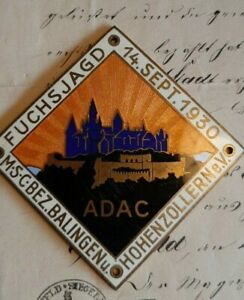 ADAC Plakette FUCHSJAGD BALLINGEN HOHENZOLLERN 1930 ab 1 €!