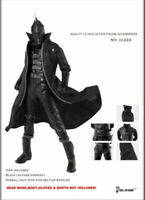 1/6 Black Leather Overcoat Coat Windbreaker Clothing Suits CC224 F 12'' Figure