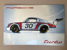 PORSCHE 911 CARRERA RSR TURBO 2.1 ENAMEL sign NOS dealer item NEW IN BOX 934 935