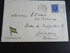 Nederland inkomend brief uit Engeland vanaf Holland America Line - Schiedam 1936