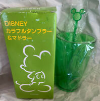 Kirin Japan 2013 Mickey Mouse  Cup PromoSeaside Cafe & Stir Stick New Open Box