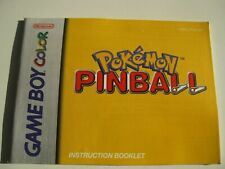 Nintendo Game Boy Color Pokemon Pinball Instruction Manual Booklet