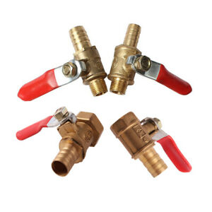 Brass Ball Valve Male/Female Thread Hose Tail End Connector Pipe Fittings Tubing