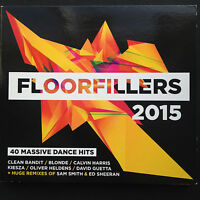 FLOORFILLERS 2015 2CD [40 Massive Dance Hits] Sam Smith Ed Sheeran Remix Digipak