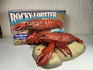 Vintage Rocky The Singing Lobster W/ Motion Detection By Gemmy In Original Box.