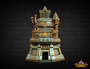 Fates End Artificer Dice Tower 3D Printed Full Size Antique Bronze