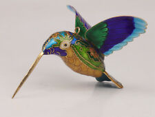 CLOISONNE HANDMADE HUMMINGBIRD STATUE PENDANT OLD ORNAMENT COLLECTABLE