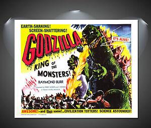 Godzilla Vintage Movie Poster - A1, A2, A3, A4 sizes