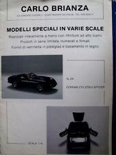 Depliant Car Models CARLO BRIANZA 1994 - ITA - Tr.15
