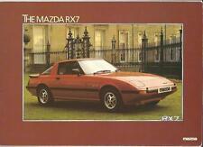 """MAZDA RX7 ventes """"brochure"""" / Feuille 1981"""
