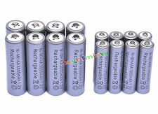 8 AA 3000mAh + 8 AAA 1800mAh 1.2V NI-MH Rechargeable Battery 2A 3A Grey Cell
