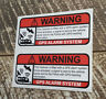 CARAVAN GPS TRACKING ANTITHEFT DECAL STICKER CAR TRUCK VEHICLE SECURITY STICKERS