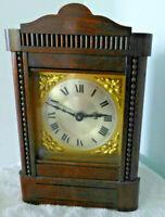 Rare Victorian / Edwardian Oak Cased Alarm Clock by H A C  Wurttemberg