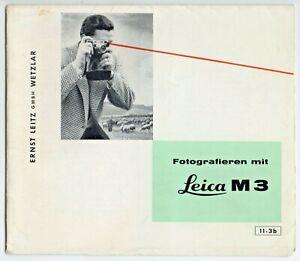 Leica M 3 Kurzanleitung ausklappbarer Flyer