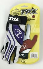 Louisville Slugger Tpx Freestyle 1.0 Batting Gloves Purple White Black Gray Sz S