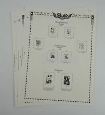 New Minkus Stamp Album Pages 1984 Supplement No. 30 U.S. Regular Issues(3 Pages)