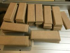 """10 x MDF wooden Plaques 4/5/6/x  2"""" Craft signs blanks 6mm MDF Chamfered edge"""