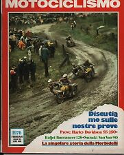 MOTOCICLISMO - FEBBRAIO 1976 - HARLEY DAVIDSON SS 250 - ITALJET BUCCANEER 125