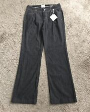WHITE HOUSE BLACK MARKET Womens Size 6 Blanc Gray Trouser Jeans Pleated New NWT