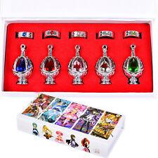 Anime Puella Magi Madoka Magica Soul Gem 5 Metal Necklace +5 Rings Cosplay Gift