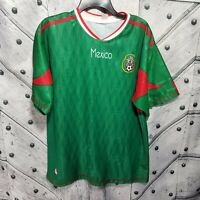 Mexico Soccer Jersey T Shirt Mens Size Large Green Polyester