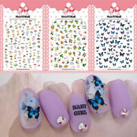 Butterfly Nail Art Nail Art Decoration Manicure Decals Flower Nail Stickers