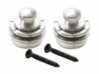 Guitar Parts HENNESSEY Straplocks Locking Button STRAP LOCKS - Set of 2 - SILVER