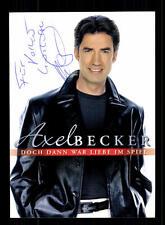 Axel Becker Autogrammkarte Original Signiert ## BC 78449