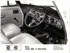 MG 1300 Mk II RHD interior dashboard original b&w Press Photo No. 190340