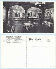 Maxls Bavarian Restaurant Interior 243 86th St  New York City Postcard