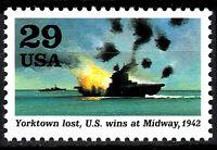 USA postfrisch MNH Kriegsschiff Boot Yorktown Weltkrieg 2 Marine Militär / 43