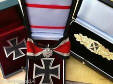 WW2 WH Army Knights Iron Cross Oakleaves Officer General German Combat Medal Set