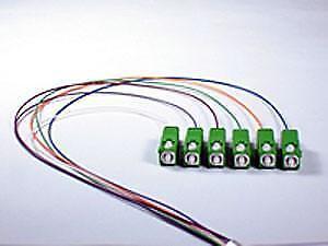 9/125/900um Single Mode SC/APC Color Coded Pigtail, 3 Meters(6 pcs/pack)