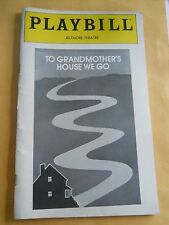 December 1980 - Biltmore Theatre Playbill - To Grandmother's House We Go