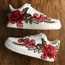 Nike Air Force 1 Size 7y Kids (8.5 Women) Custom White Red Rose