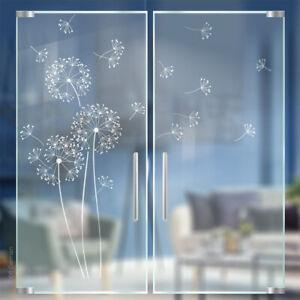Pusteblume Glasdekor Glas Tür Folie Glastür Aufkleber Blume Sandstrahloptik g317