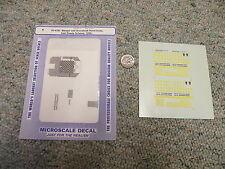 Microscale decals N 60-4191 Bangor Aroostook hood units Iron Roads 1996+ J74