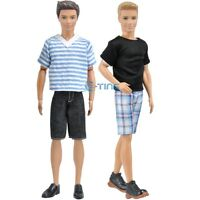 2 Ssets Handmade Doll Clothes Casual Wear Jacket Outfit For Barbie Ken Dolls