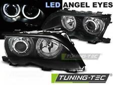 COPPIA FARI ANTERIORI BMW E46 09.01-03.05 ANGEL EYES LED BLACK*564