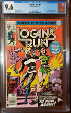 LOGAN'S RUN #6 1ST THANOS SOLO STORY BY MIKE ZECK WHITE PAGES CGC 9.6