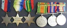 Original Australian Group 6 Medals: WW2 1939-45 Atlantic Pacific PM7735, Bergman