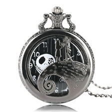 Tim Burton's Nightmare Before Christmas Pocket Watch Black Steampunk Necklace