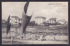 RIMINI RICCIONE 73 VILLINI sul PORTO Cartolina viaggiata 1918