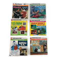 Vintage GAF View Master Reel Lot Happy Days Captain Kangaroo Shaggy DA And More