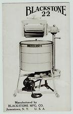 RARE RPPC Advertising Blackstone 22 Washer Washing Machine - Jamestown NY c 1930