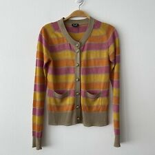 D&G  Dolce & Gabbana Stripe Shimmer Cardigan Size XS