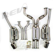 FOR 09-16 370Z Z34 Dual Exit Catback Exhaust Tuner Style Muffler Tip Stainless