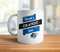 Worlds Okayest Son Mug Funny Son Gift Christmas Gifts For Son Coffee Mug Funny