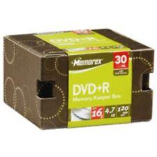 Memorex DVD-R 16X 4.7GB in Memory Keeper Box w/Sleeves - 30Pk