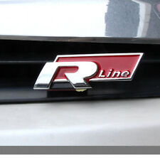 RED 3D luxury RLINE R LINE Emblem Badge Decal Logo For Car Trunk Hood Door Tail